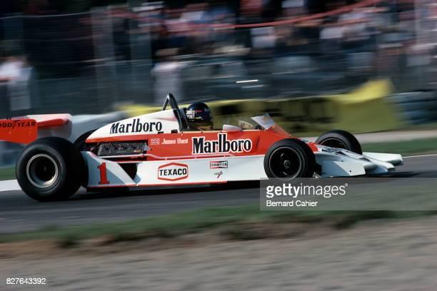 James Hunt, McLaren-Ford M26, Grand Prix of Italy, Monza, 11 September 1977.