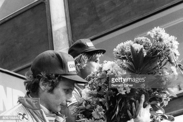 James Hunt, Niki Lauda, Grand Prix of Netherlands, Zandvoort, 22 June 1975.