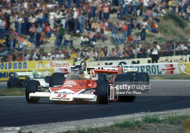 James Hunt of Great Britain drives the Marlboro Team McLaren M23 Ford Cosworth V8 during the Dutch Grand Prix on 29th August 1976 at the Circuit Park...