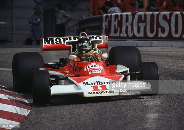 James Hunt of Great Britain drives the Marlboro Team McLaren McLaren M23 Ford V8 during the Grand Prix of Monaco on 30 May 1976 on the streets of the...