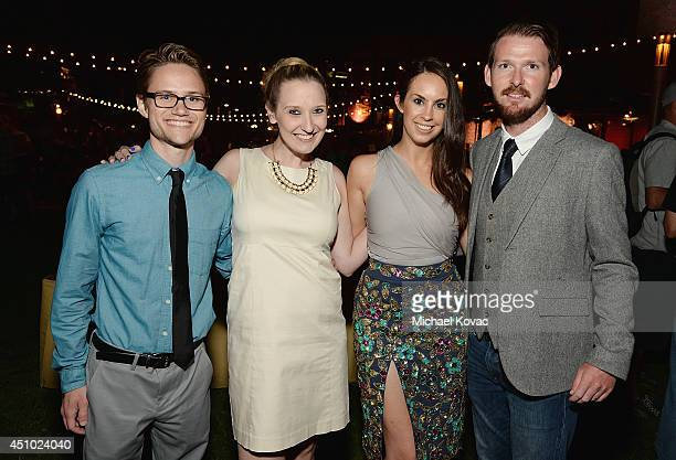 James Hunt Rachel Hunt Denisse Montfort and Shaun Russell enjoy the 'More Than a Cone' art auction and campaign launch benefiting Best Friends Animal...