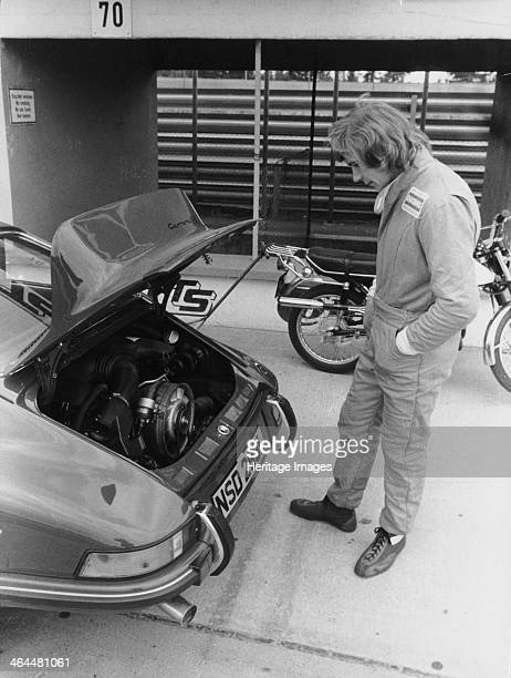 James Hunt with a Porsche c1972c1973 Hunt looks at a Porsche engine The charismatic British driver won 10 Grands Prix after suffering with...