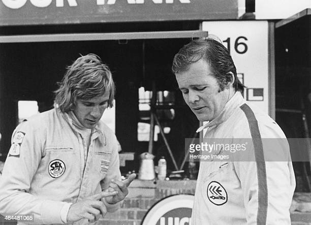 James Hunt with Charles Lucas c1970 The charismatic British driver won 10 Grands Prix after suffering with uncompetitive cars early in his career and...