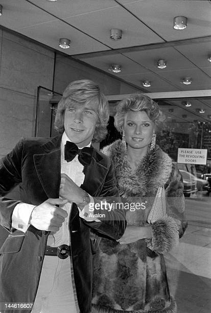 James Hunt with his wife Suzy Miller July 1975