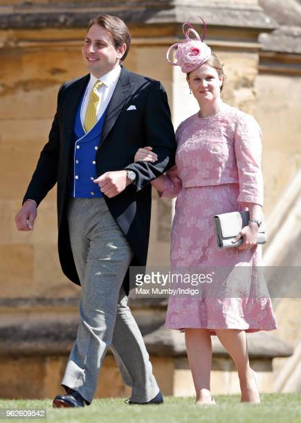 James Hutt and Emily Hutt attend the wedding of Prince Harry to Ms Meghan Markle at St George's Chapel Windsor Castle on May 19 2018 in Windsor...