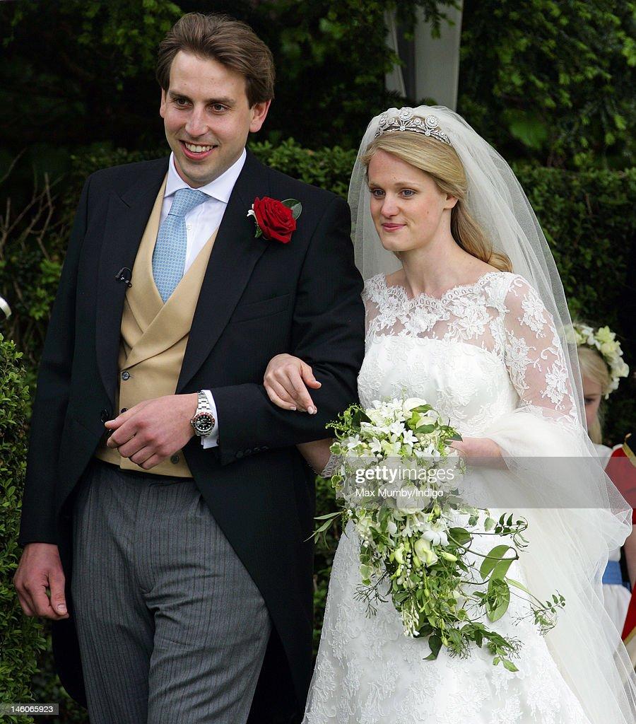 Emily McCorquodale and James Hutt Wedding : News Photo