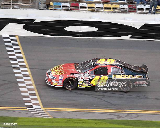 James Hylton a 78yearold driver competes in the Lucas Oil 200 ARCA series race at Daytona International Speedway on Saturday February 16 in Daytona...