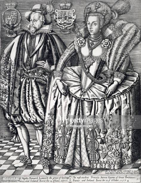 James I King of England Scotland and Ireland and Anne of Denmark 1618 James I was the first Stuart king of England succeeding Elizabeth I after her...