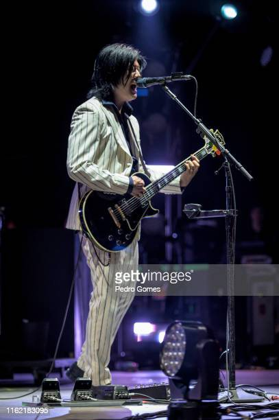 James Iha from The Smashing Pumpkins performs on the NOS stage on day 3 of NOS Alive festival on July 13 2019 in Lisbon Portugal