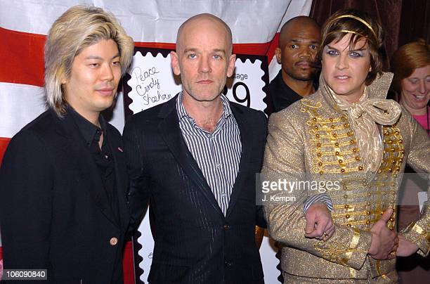 James Iha Michael Stipe and Casey Spooner during Bring 'Em Home Now 3rd Iraq War Anniversary Concert at Hammerstein Ballroom in New York City New...