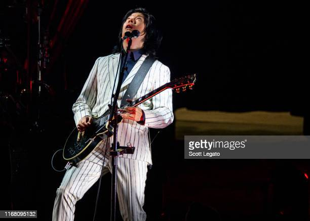 James Iha of Smashing Pumpkins performs at DTE Energy Music Theater on August 14 2019 in Clarkston Michigan