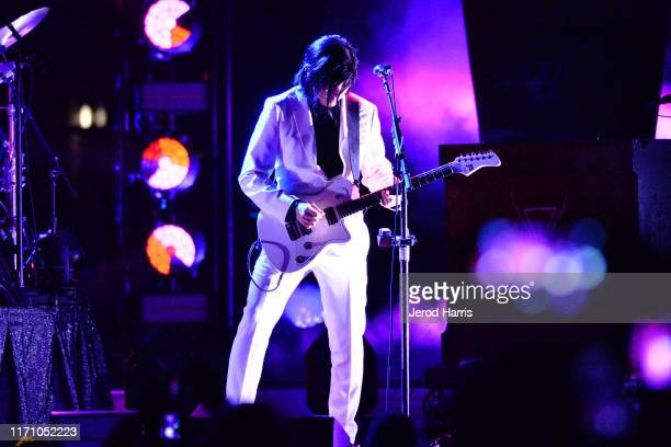 James Iha of Smashing Pumpkins performs at FivePoint Amphitheatre on August 29 2019 in Irvine California