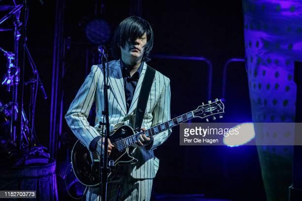 James Iha of Smashing Pumpkins performs at Oslo Spektrum on May 30 2019 in Oslo Norway