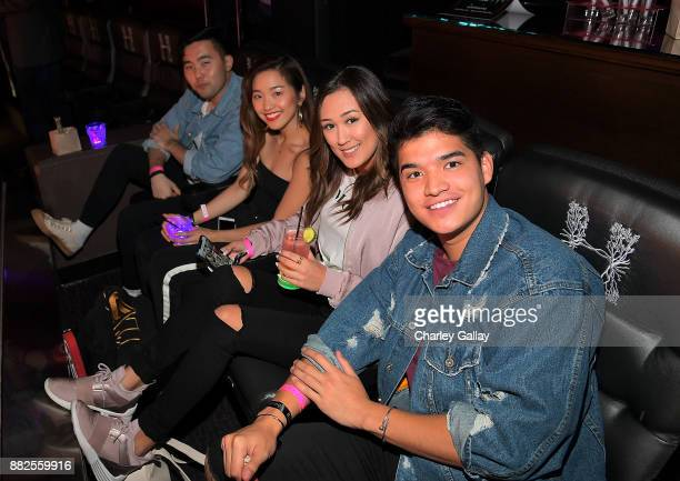 James Im and Jenn Im and Alex Wassabi and Laura Diy attend Call It Spring takes over HYDE Lounge to host young Hollywood's finest for the Lakers vs...