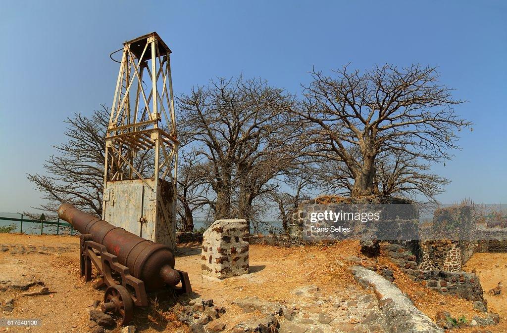James island (Kunta Kinte Island, Unesco world heritage) , the Gambia : Stock Photo