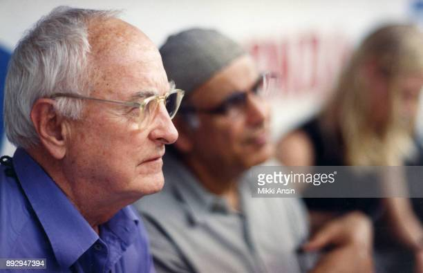 James Ivory and Director Ismail Merchant watch filming of 'The Mystic Masseur' in Trinidad in October 2001