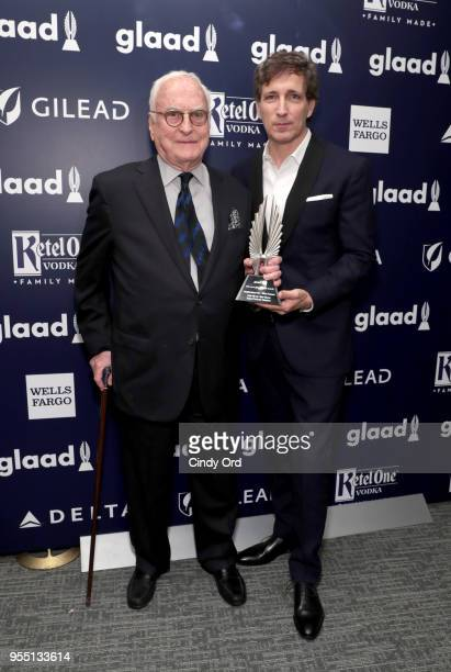 James Ivory and Peter Spears recipient of Outstanding FilmWide Release Award for Call Me By Your Name attend the 29th Annual GLAAD Media Awards at...