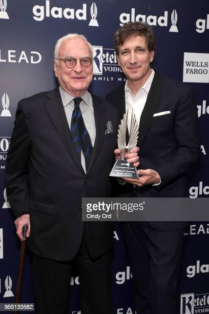 James Ivory and recipient of Outstanding FilmWide Release Award for Call Me By Your Name Peter Spears attend the 29th Annual GLAAD Media Awards at...