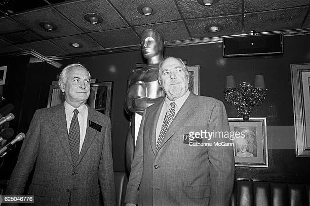 James Ivory and Robert Altman attend the nominees luncheon for 65th Annual Academy Awards on March 23 1993 at the Russian Tea Room in New York City...