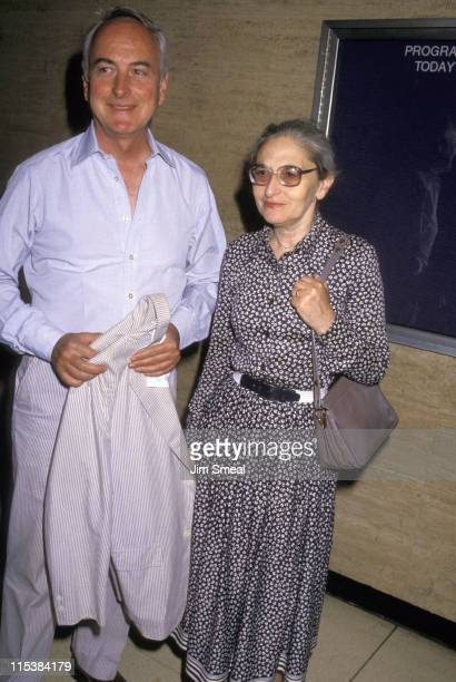 James Ivory And Ruth Jabvalah during 'My Little Girl' New York Premiere at Bruno Walter Auditorium in New York City New York United States