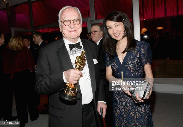 James Ivory attends the 2018 Vanity Fair Oscar Party hosted by Radhika Jones at Wallis Annenberg Center for the Performing Arts on March 4 2018 in...
