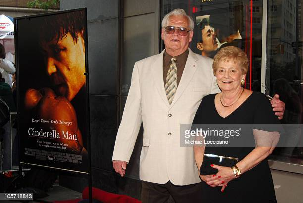 James J Braddock and wife during Cinderella Man New York City Premiere Benefiting The Children's Defense Fund at Loews Lincoln Square Theater in New...