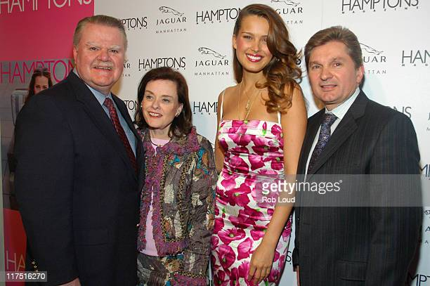 James J Padilla President and CEO of Ford Motor Company wife Alice Padilla Petra Nemcova and Gary Flom President and CEO of Manhattan Automobile...