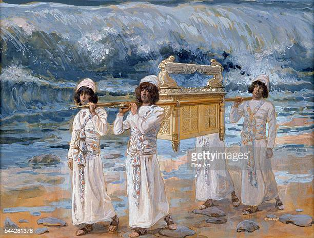 James Jacques Joseph Tissot The Ark of the Covenant Passes Over the Jordan c 18961902 gouache on board 214 x 276 cm The Jewish Museum New York New...