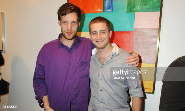 James Jagger and Tyrone Wood attend the private view of 'Symbolic Collection' on September 24 2009 in London England