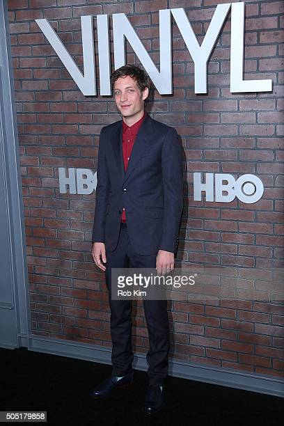 James Jagger attends the New York Premiere of Vinyl at Ziegfeld Theatre on January 15 2016 in New York City
