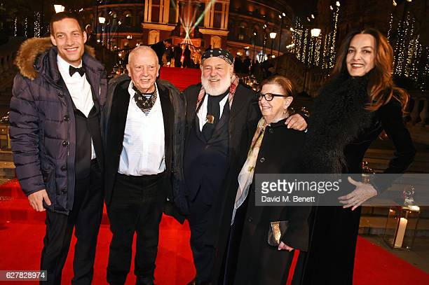 James Jagger, David Bailey, Bruce Weber, Nan Bush and Catherine Bailey attend The Fashion Awards 2016 at Royal Albert Hall on December 5, 2016 in...