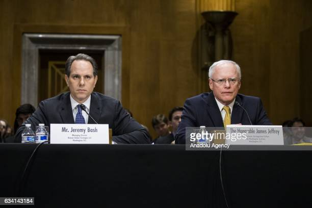 James Jeffrey former US Ambassador to Turkey and Jeremy Bash former Chief of Staff at the US Department of Defense speak during the Senate Foreign...