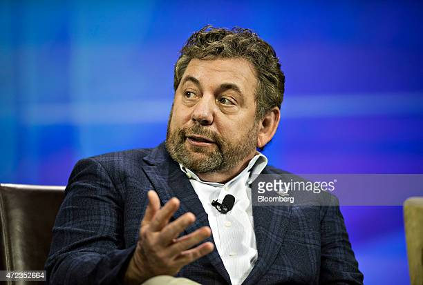 James Jim Dolan president and chief executive officer of Cablevision Systems Corp speaks at INTX The Internet Television Expo in Chicago Illinois US...