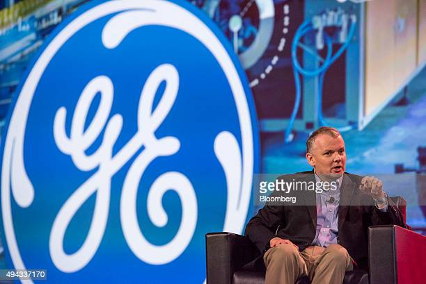James Jim Fowler chief information officer for General Electric Co speaks during the Oracle OpenWorld 2015 conference in San Francisco California US...