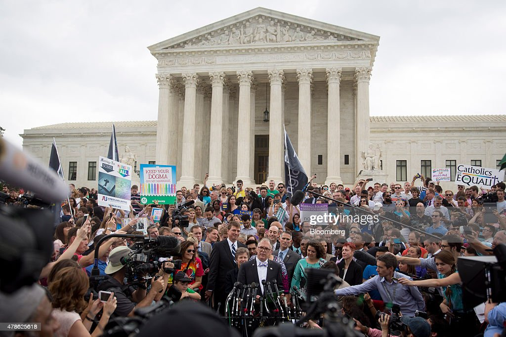 Supreme Court To Issue Gay Marriage Ruling By End Of The Month : News Photo