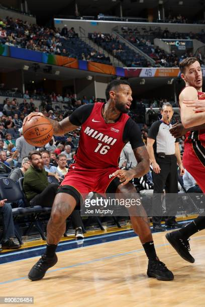 James Johnson of the Miami Heat handles the ball against the Memphis Grizzlies on December 11 2017 at FedExForum in Memphis Tennessee NOTE TO USER...