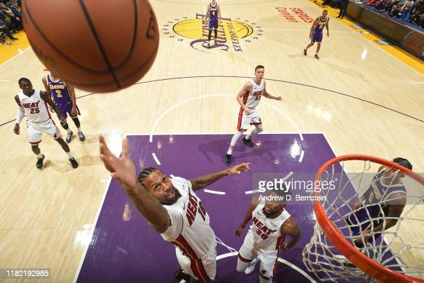 James Johnson of the Miami Heat shoots the ball against the Los Angeles Lakers on November 8 2019 at STAPLES Center in Los Angeles California NOTE TO...