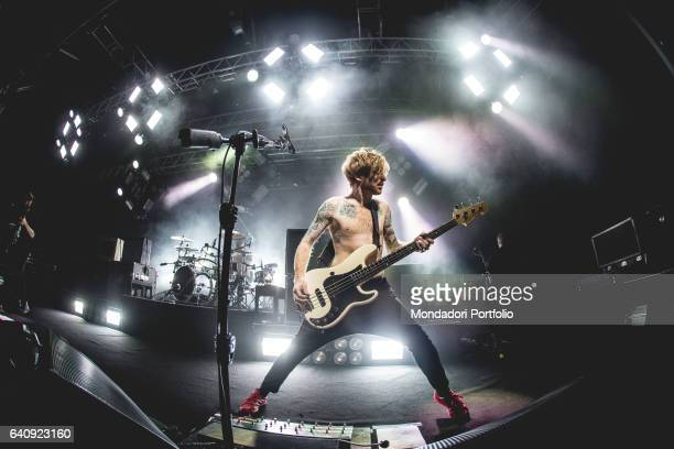James Johnston bassist of the Scottish alternative rock band Biffy Clyro performs at Fabrique Milan february 2 2017