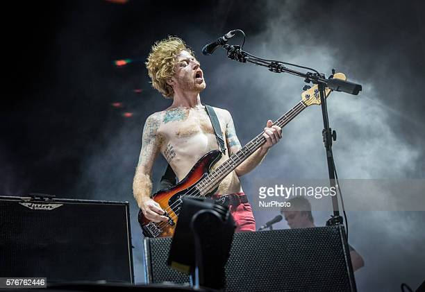 James Johnston from Biffy Clyro performs at second day of the Benicassim International Festival in Benicassim Spain on July 15 2016