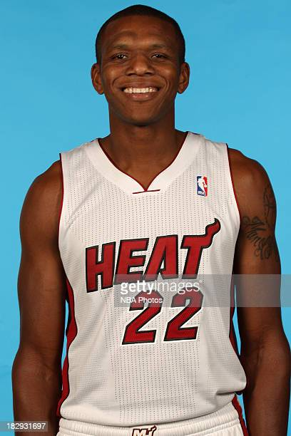 James Jones of the Miami Heat poses for a photo during media day on September 30 2013 at the American Airlines Arena in Miami Florida NOTE TO USER...