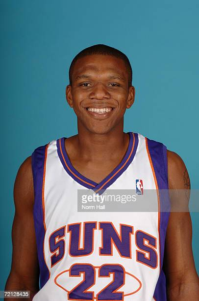 James Jones of the Phoenix Suns poses for a photo during Media Day at U.S. Airways Center on September 29, 2006 in Phoenix, Arizona. NOTE TO USER:...