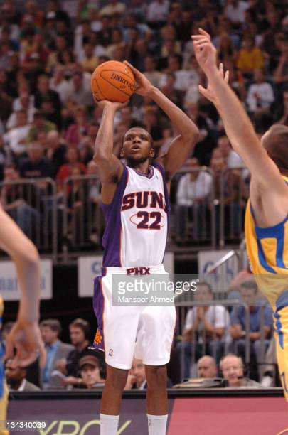James Jones shoots the open jumper for the Phoenix Suns during the NBA Europe Live Tour presented by EA Sports on October 11, 2006 at the Kölnarena...