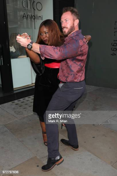 James Jordan and Chizzy Akudolu attending Lizzie Cundys 48th Birthday party at Caramel sighting on June 12 2018 in London England
