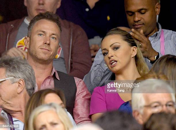 James Jordan and Ola Jordan attend day five of the Wimbledon Tennis Championships at Wimbledon on July 01 2016 in London England