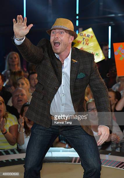 James Jordan is evicted from the Celebrity Big Brother house at Elstree Studios on September 12 2014 in Borehamwood England