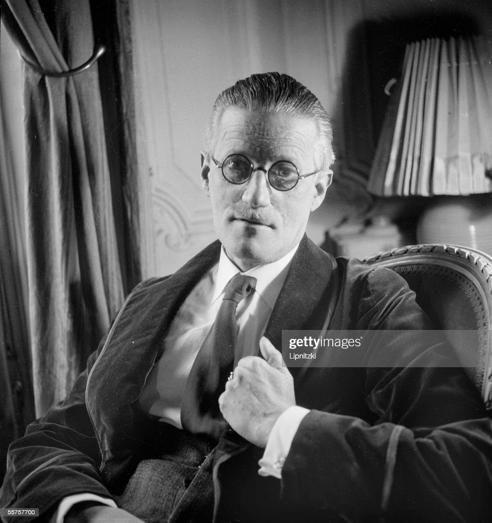 James Joyce (1882-1941), Irish writer. Paris, 1934 : News Photo