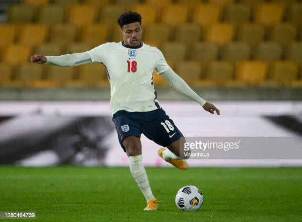 James Justin of England during the UEFA Euro Under 21 Qualifier match between England U21 and Turkey U21 at Molineux on October 13 2020 in...