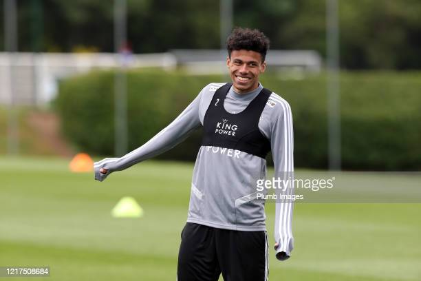 James Justin of Leicester City during a Leicester City training session at Belvoir Drive Training Complex on June 04th, 2020 in Leicester, United...
