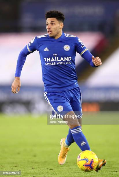 James Justin of Leicester City during the Premier League match between Leicester City and Southampton at The King Power Stadium on January 16, 2021...