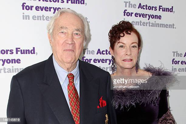 James Karen and Francesca Alba attend The Actors Fund's 16th Annual Tony Awards Viewing Party Honoring Jason Alexander at Skirball Cultural Center on...